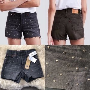 NWT Levi's Bling Bling Wedgie High Rise Shorts 24